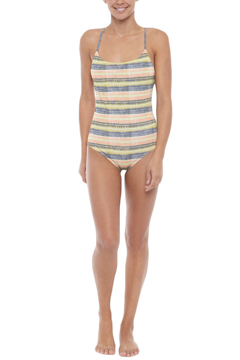 Anglet Moderate Coverage One Piece Swimsuit - Alamo Print