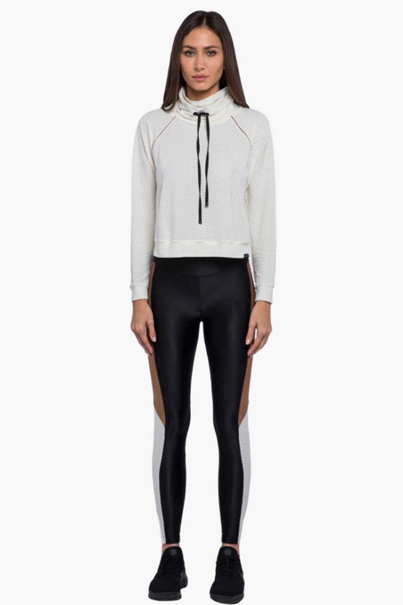 Serendipity Color Block High-Rise Energy Leggings - Black/Toffee Brown/Egret White