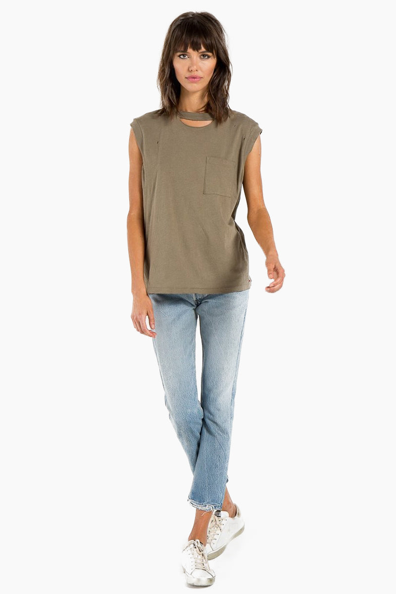 Serge Pocket Tank - Army Green