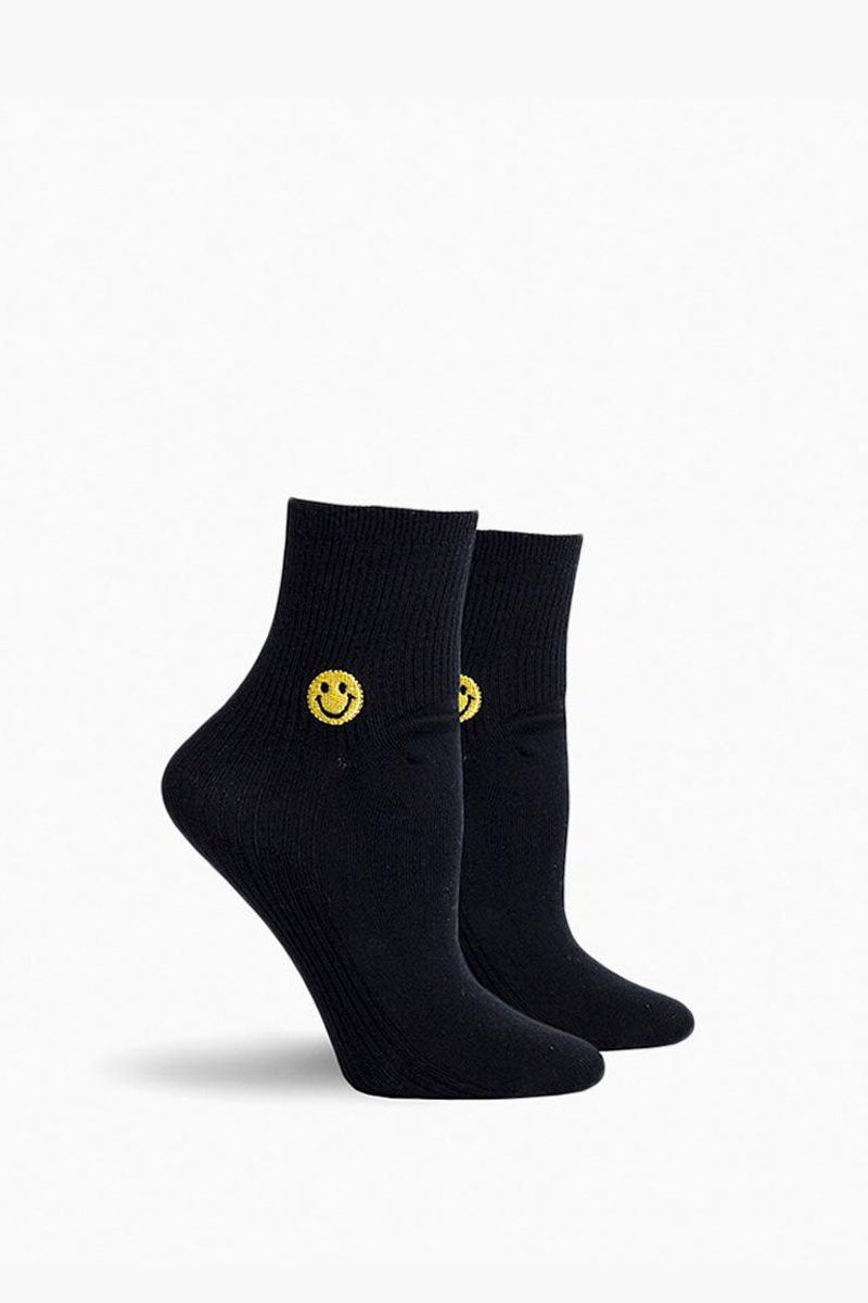 Smiles Ankle Socks - Black