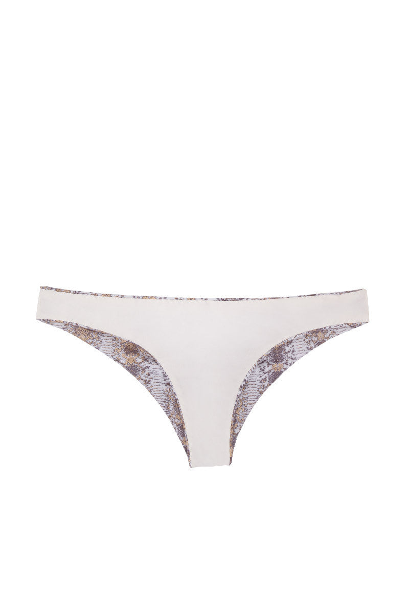 SOLKISSED Kauai Brazilian Bottom Bikini Bottom | Gold Print|