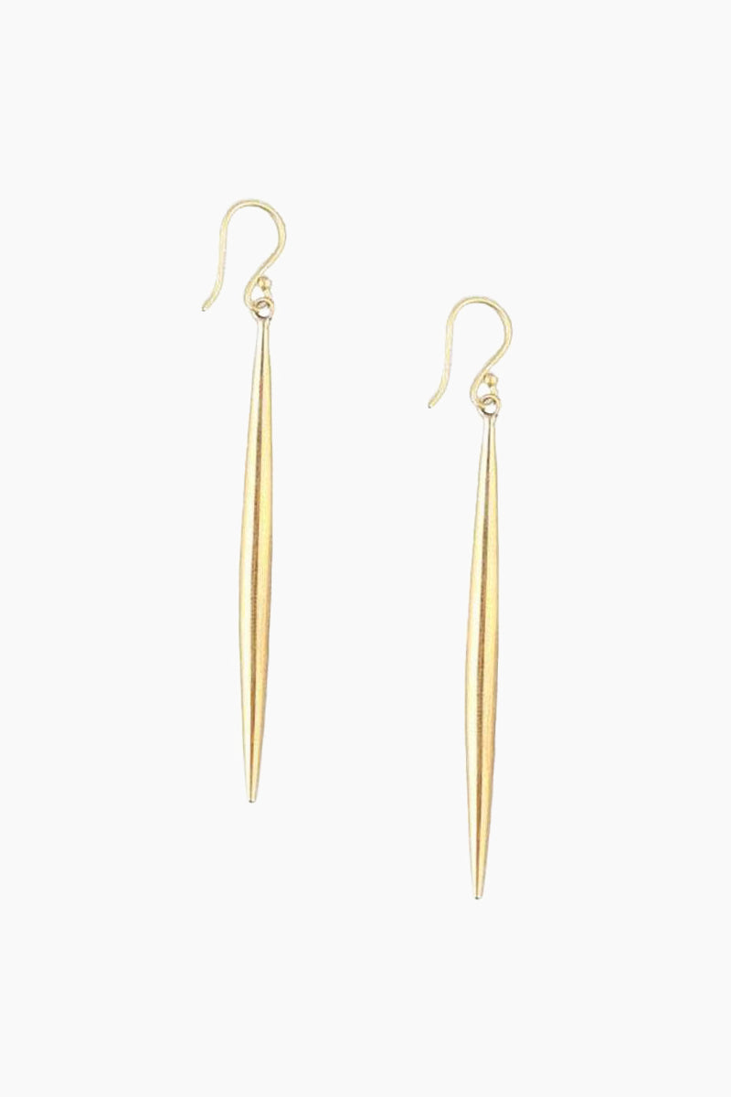 Spike Earrings - Brass