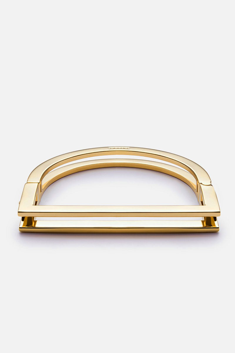 Square Bar Cuff - Gold