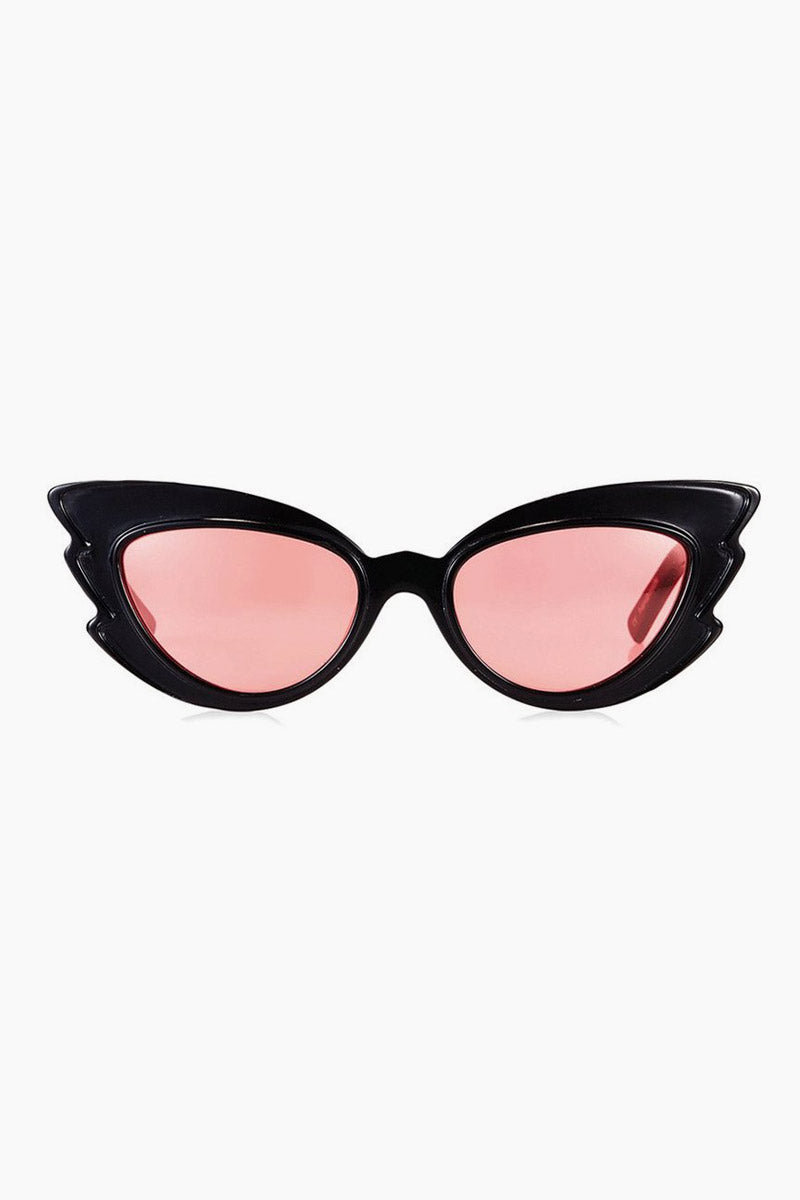 Stargazers Sunglasses - Black/Red Lenses