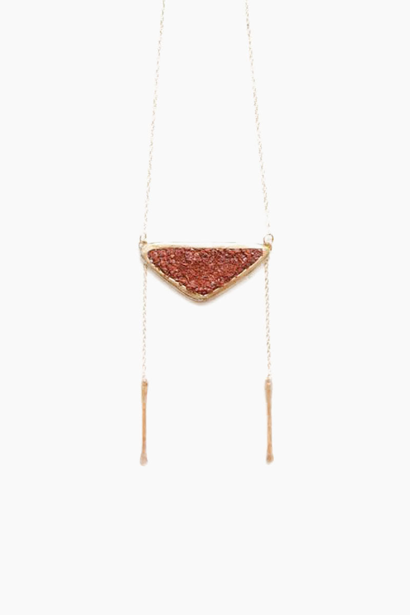 Strata Bolo Necklace - Red Opal