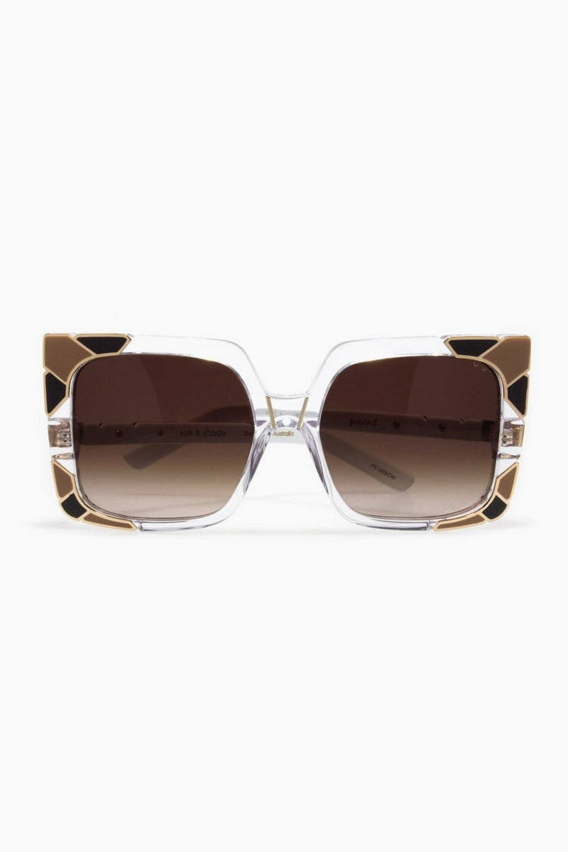 Sun & Shade Sunglasses - Clear/Black/Brown Lenses