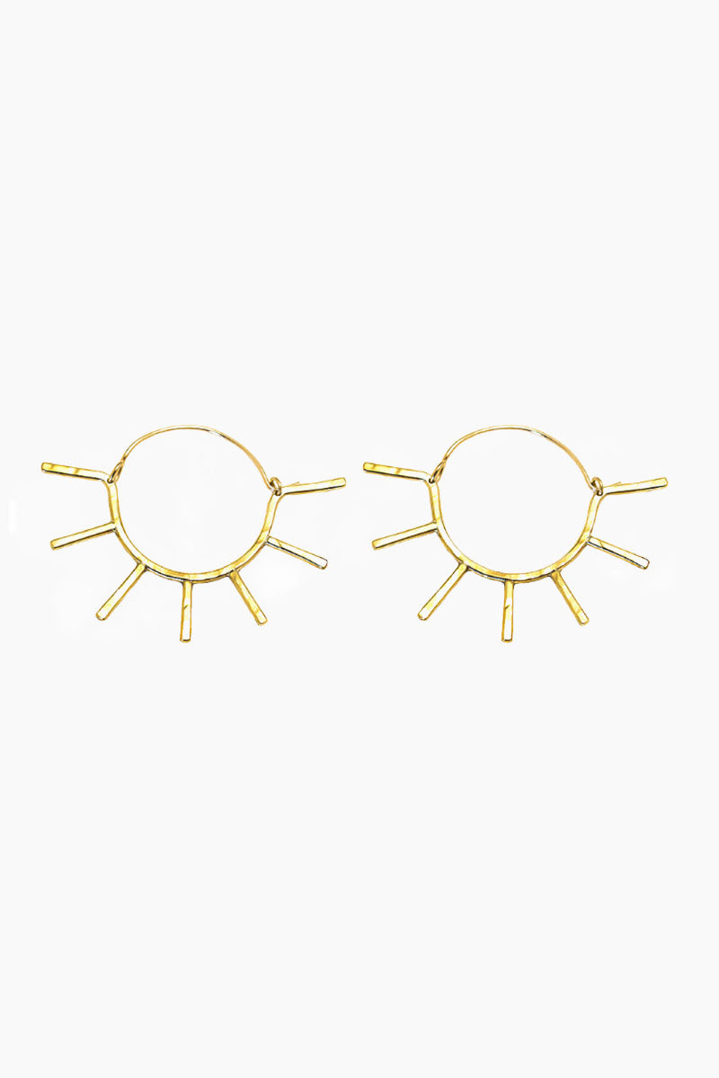 Sunny Hoops Earrings - Gold