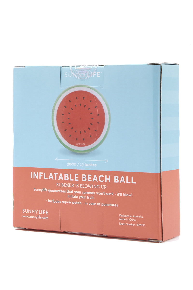 SUNNYLIFE Inflatable Watermelon Ball Accessories | Watermelon| sunnylife inflatable watermelon ball