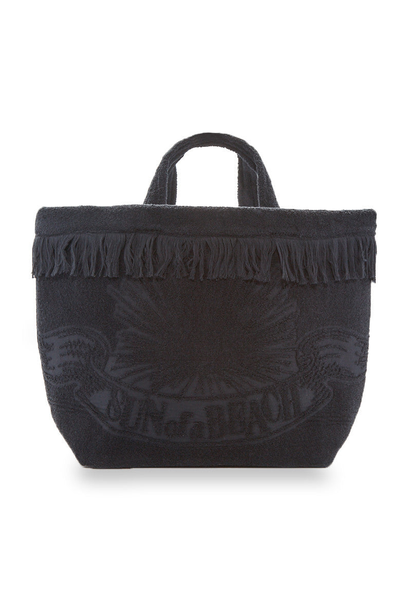 Hawaiian Tropic Reversible Oversized Beach Bag - Black/Vibrant Tropical Print