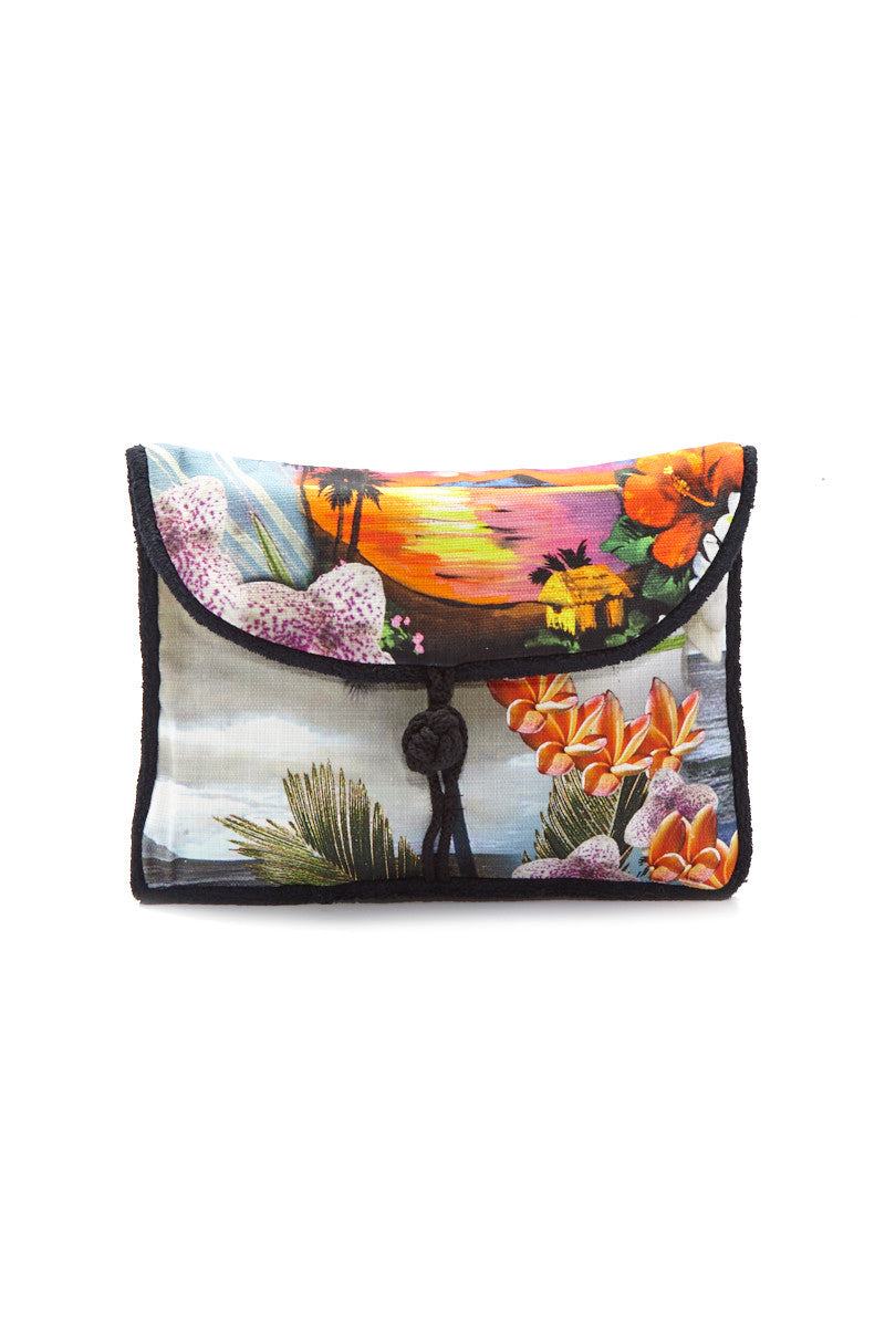 Hawaiian Tropic Pouch - Vibrant Tropical Print
