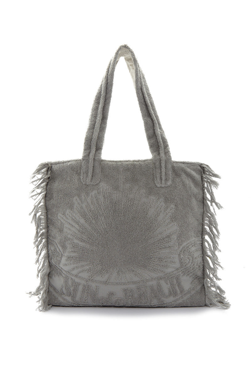 Sunofabeach JustSilverPolybag Front Fringe Poly Bag 8211 Cool Grey