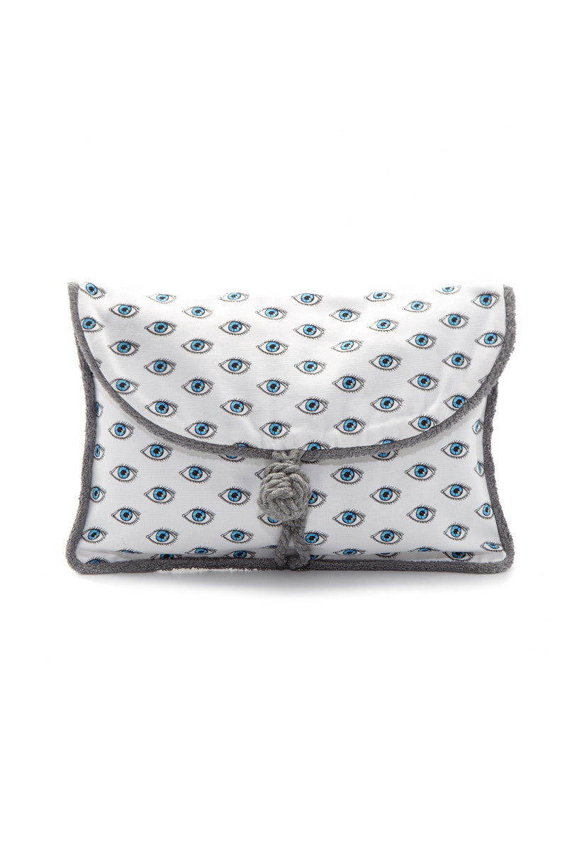 SUN OF A BEACH Watch Out Pouch Tote | White| Sun of a Beach Watch Out Pouch
