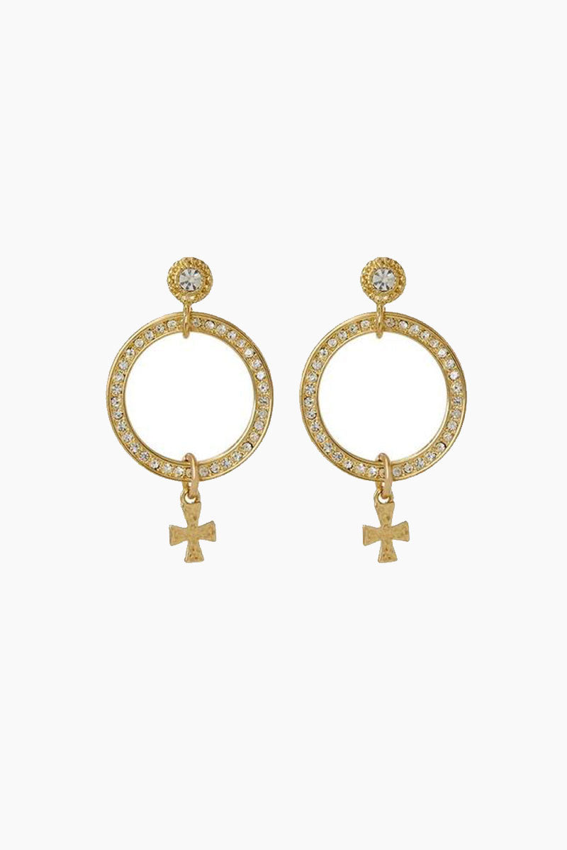 The Moroccan Pave Loop Studs - Gold