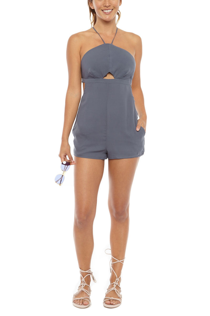 Harlow Front Cut Out Playsuit - Ombre Blue