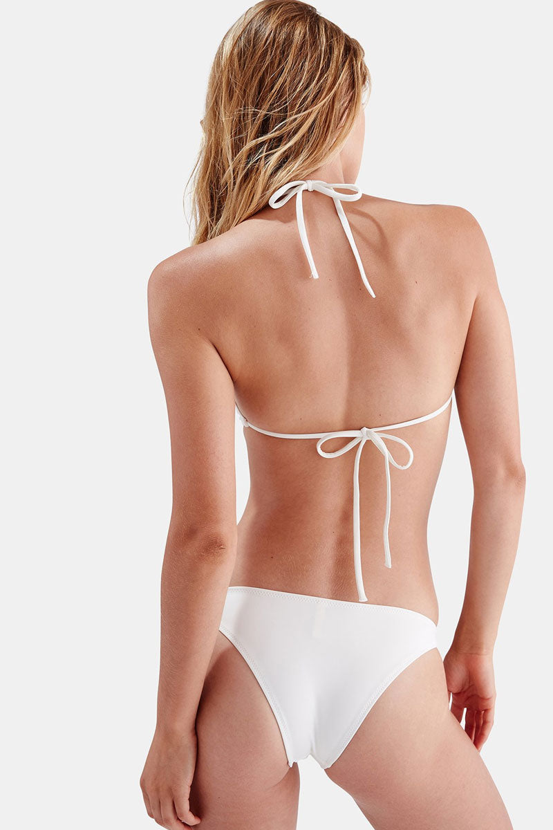 The Tania Ring Side Bikini Bottom - All Cream