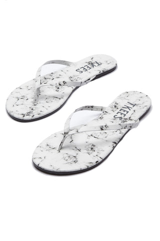 TKEES Marble Sandals Shoe | White Pepper| Tkees Marble Sandals