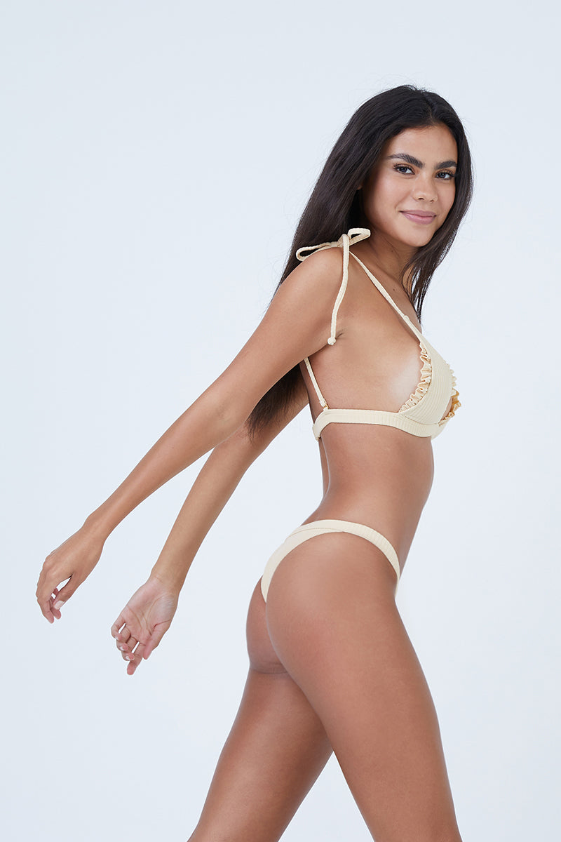 db8d4458f2 ... MADE BY DAWN Traveler Banded Low Rise Bikini Bottom - Blonde Rib - undefined  undefined