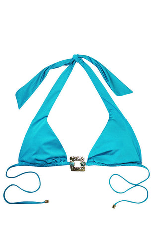 BEACH BUNNY Triple Crown Top Bikini Top | Capri Blue|