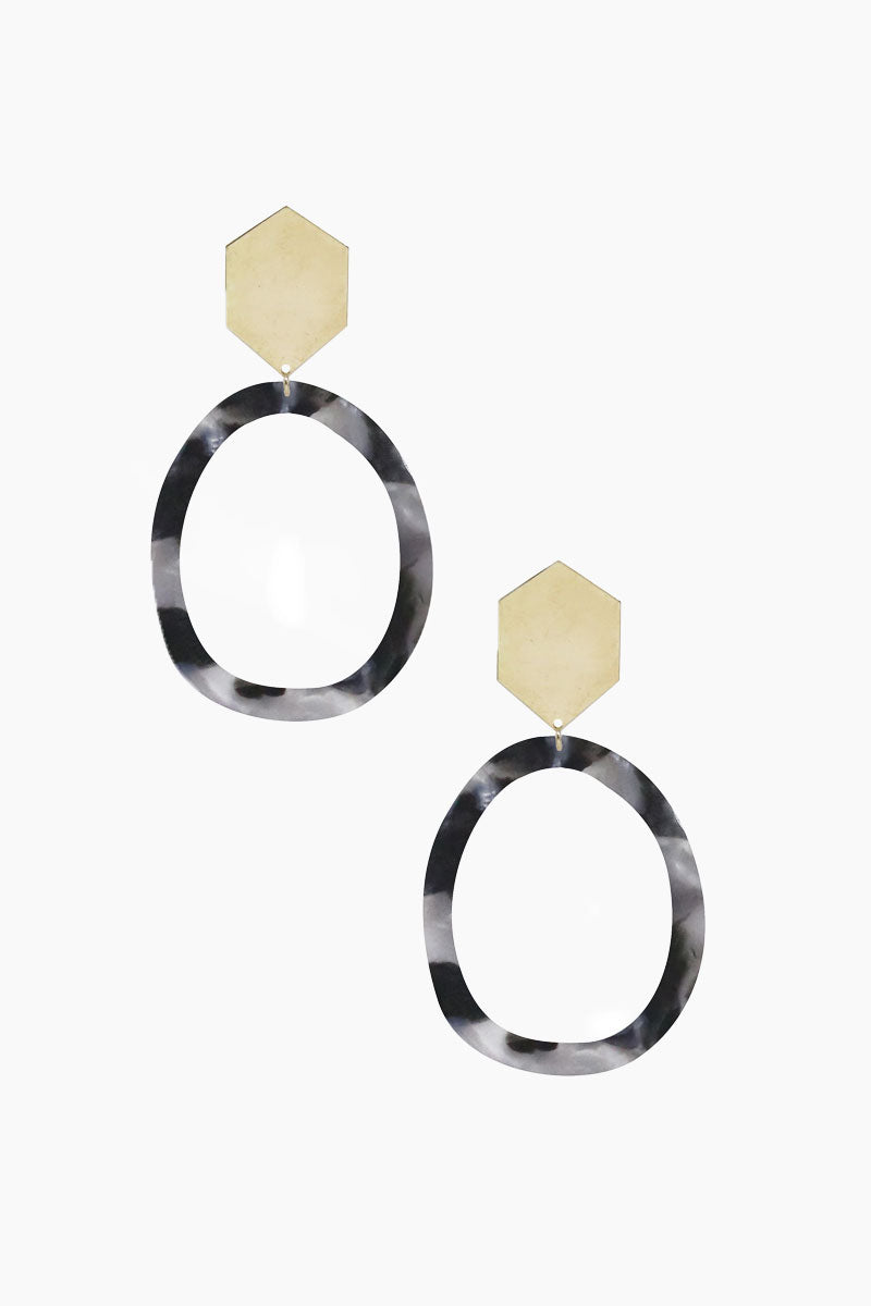 Tulum Hoops - Black & Gold