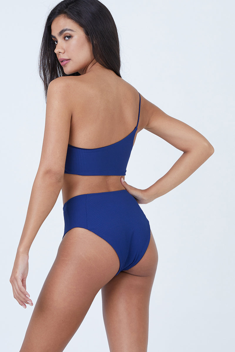 Honolulu High Waisted Bottom - Navy Blue
