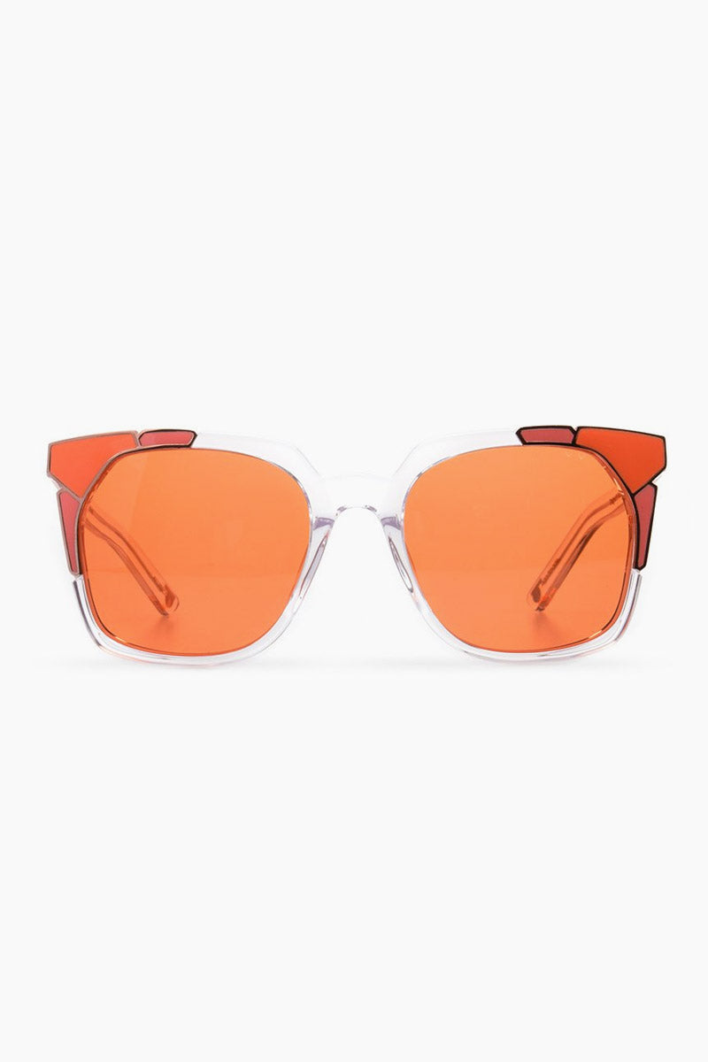 Tutti & Frutti Sunglasses - Clear/Coral/Orange Lenses