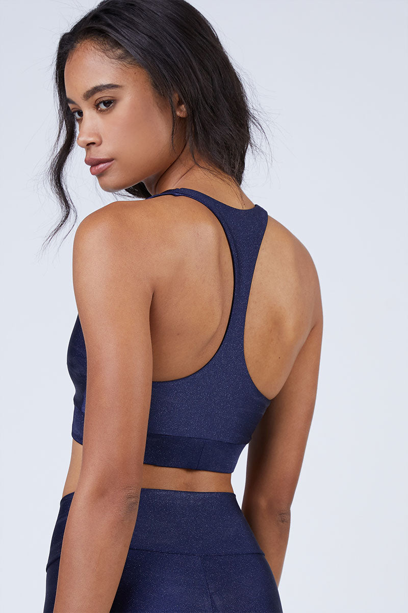 ba8f7fd86a556 ... BEACH RIOT Twist Racerback Sports Bra Top - Navy - undefined undefined