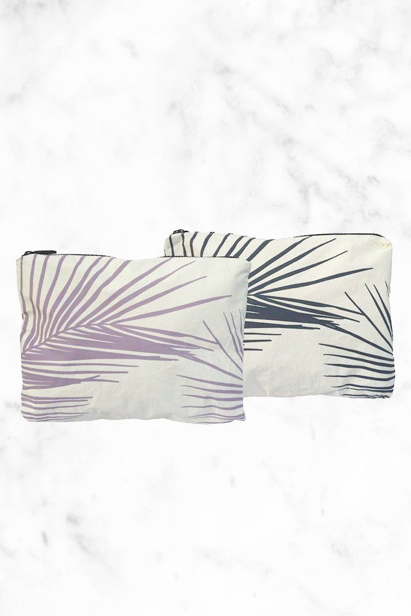 ALOHA COLLECTION Palm Fronds Tote | Granite/Acai| Aloha Collection Palm Fronds