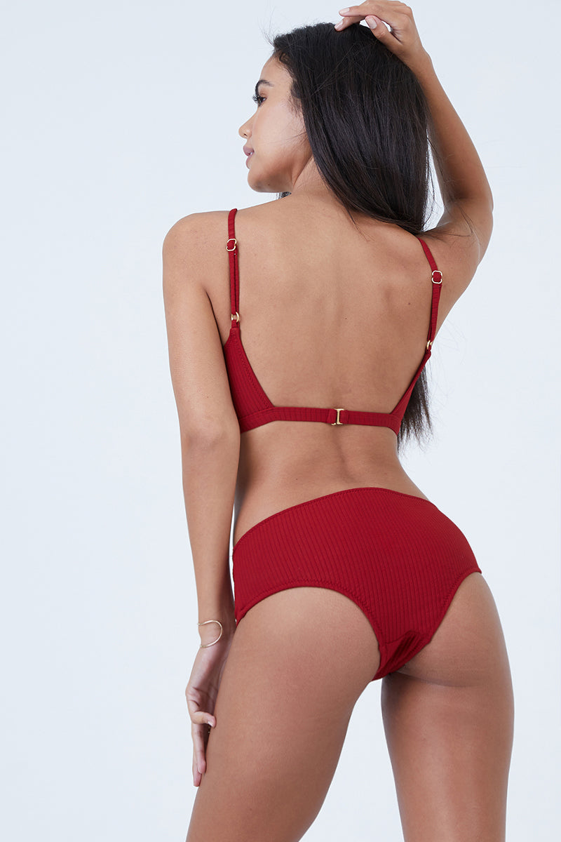 5655f6d214 MADE BY DAWN Valley Mid Rise Bikini Bottom - Root Rib - undefined undefined  ...