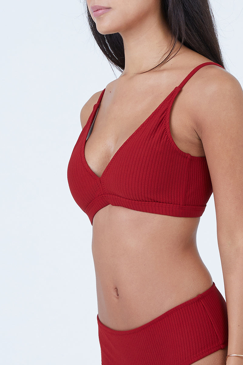 bd6fb59470 ... MADE BY DAWN Valley Wide Banded Triangle Bikini Top - Root Rib - undefined  undefined