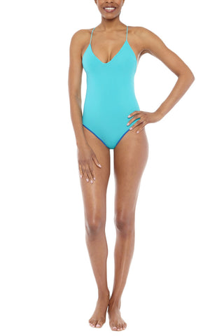 WATER GLAMOUR Chloe One Piece One Piece | Royal Blue/Turquoise| Water Glamour Chloe One Piece