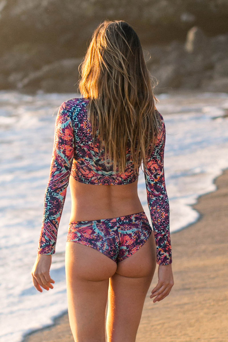 WATER GLAMOUR Jesse Reversible Hipster Bottom Bikini Bottom | Kaleidoscope/Berry|Talita