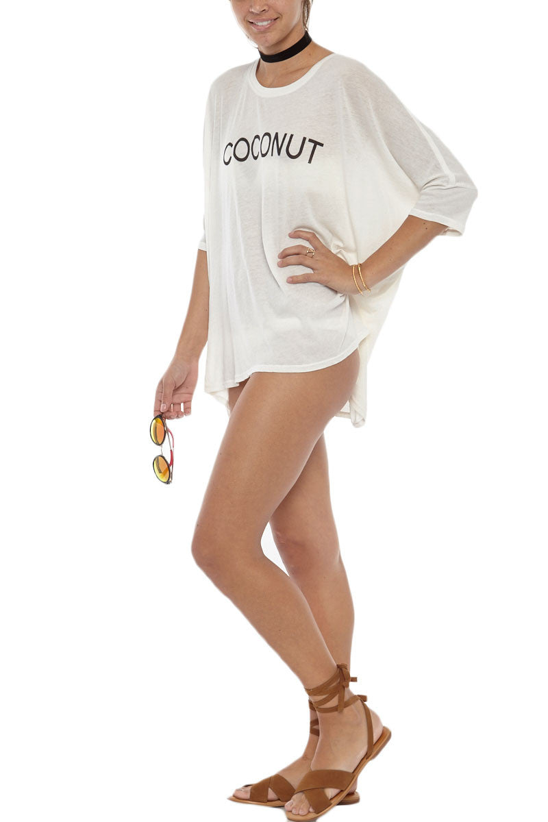 WILDFOX Coconut Sunday Morning Tee Cover Up | Vintage Lace| Wildfox Coconut Sunday Morning Tee