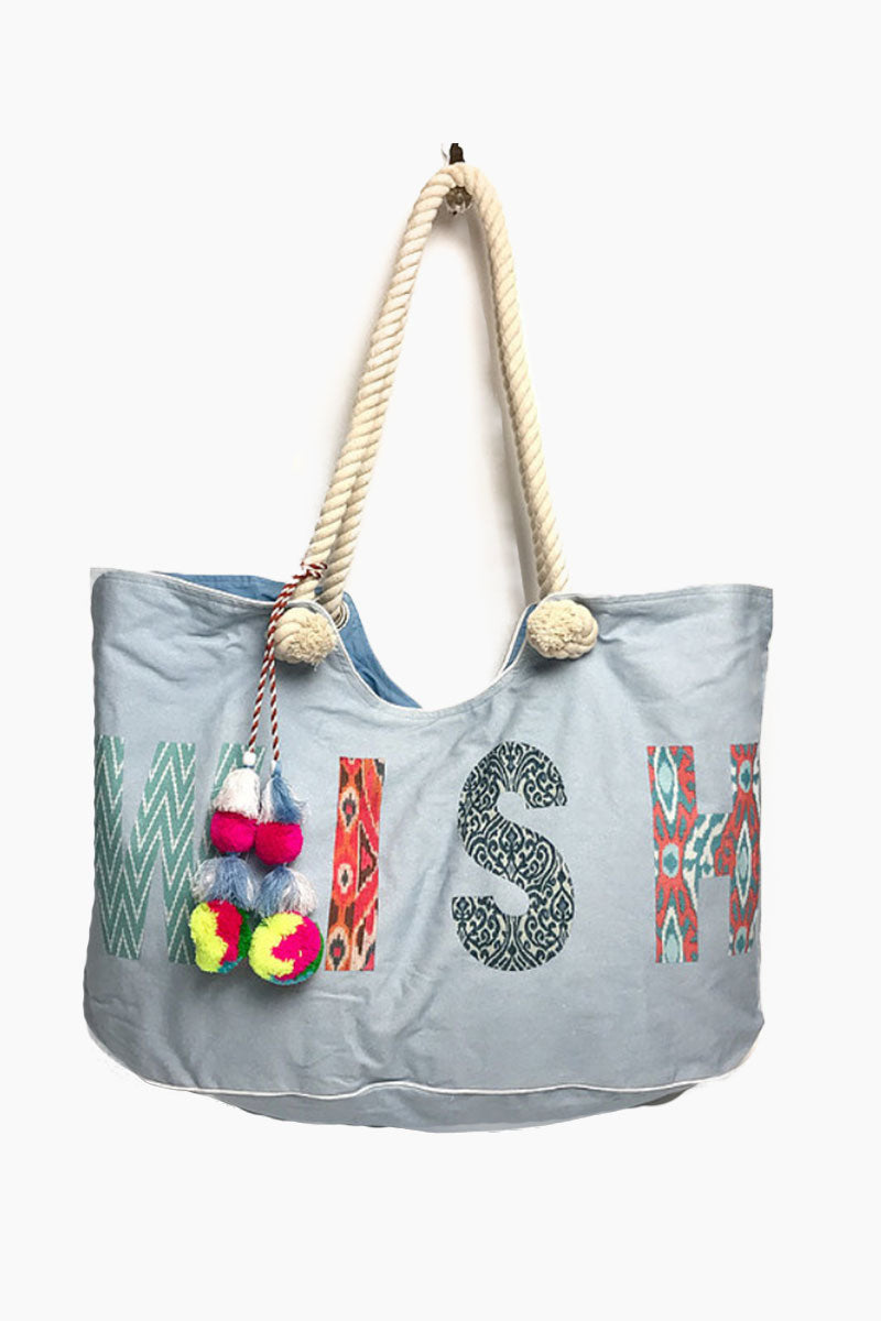 Wish Tote - Blue