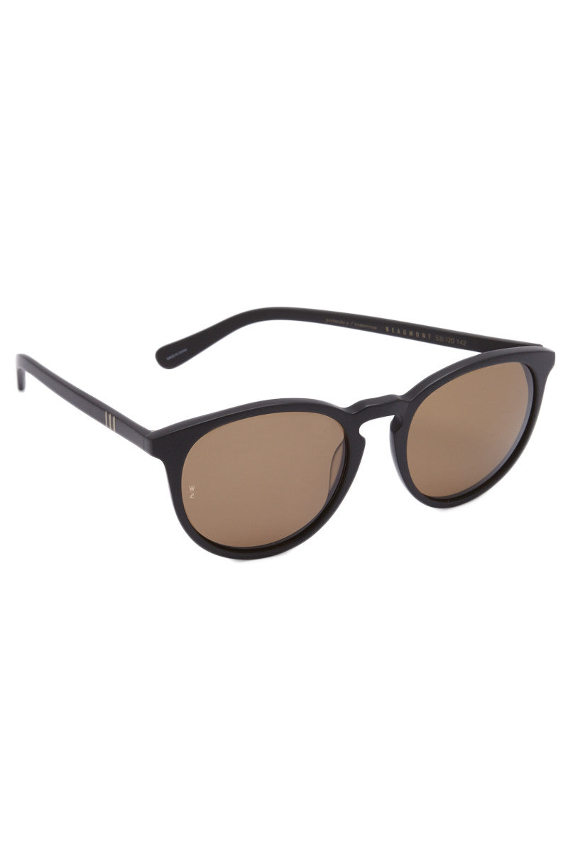 WONDERLAND SUNGLASSES Beaumont Accessories | Matte Black/Bronze| Beumont Wonderland Sunglasses
