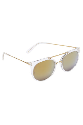 WONDERLAND SUNGLASSES Stateline Accessories | Clear and Gold| Wonderland Sunglasses Stateline