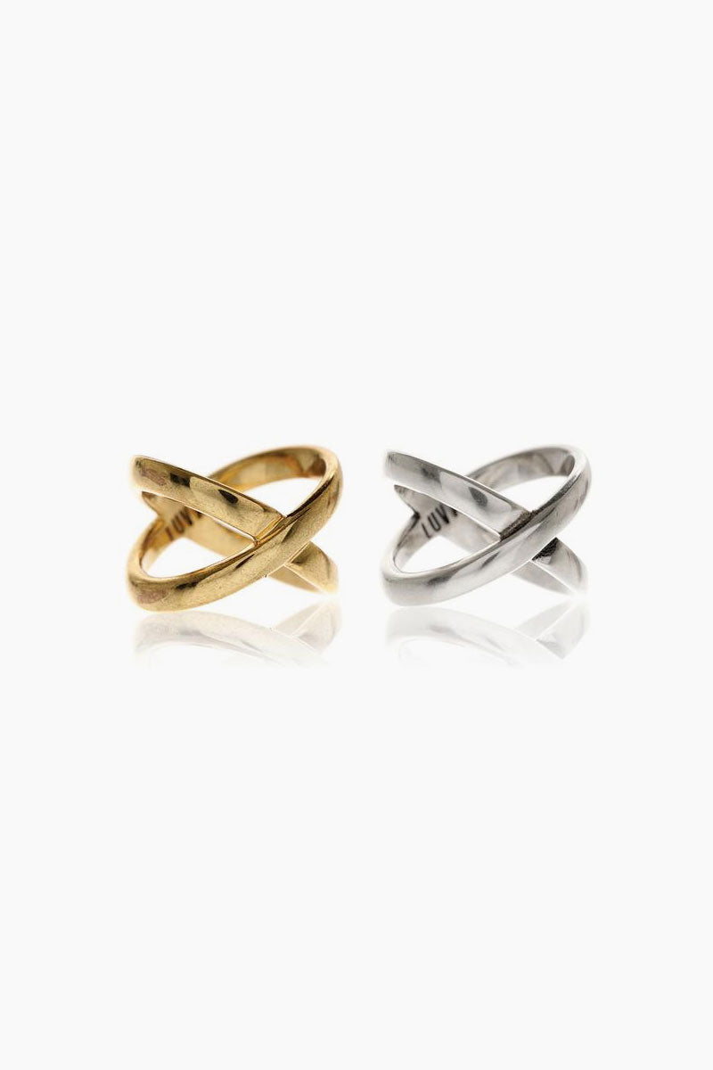 Xavier Rings (Set of 2) - Gold/Silver