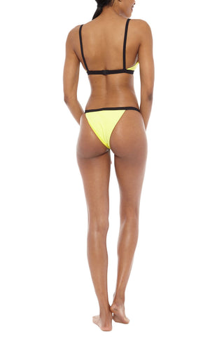 ZIGILANE Bae Watch Bottom Bikini Bottom | Yellow & Black| Zigilane Bae Watch Bikini Bottom