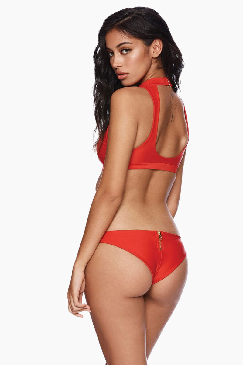 Zoey Tango Cheeky Bikini Bottom - Red