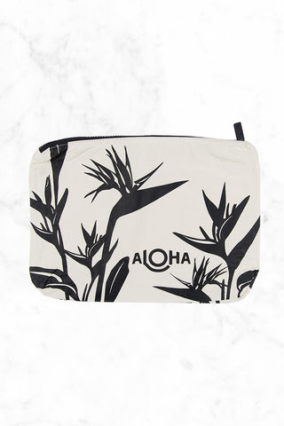 ALOHA COLLECTION Birds In Paradise Tote | Black Print|Aloha Collection Birds In Paradise