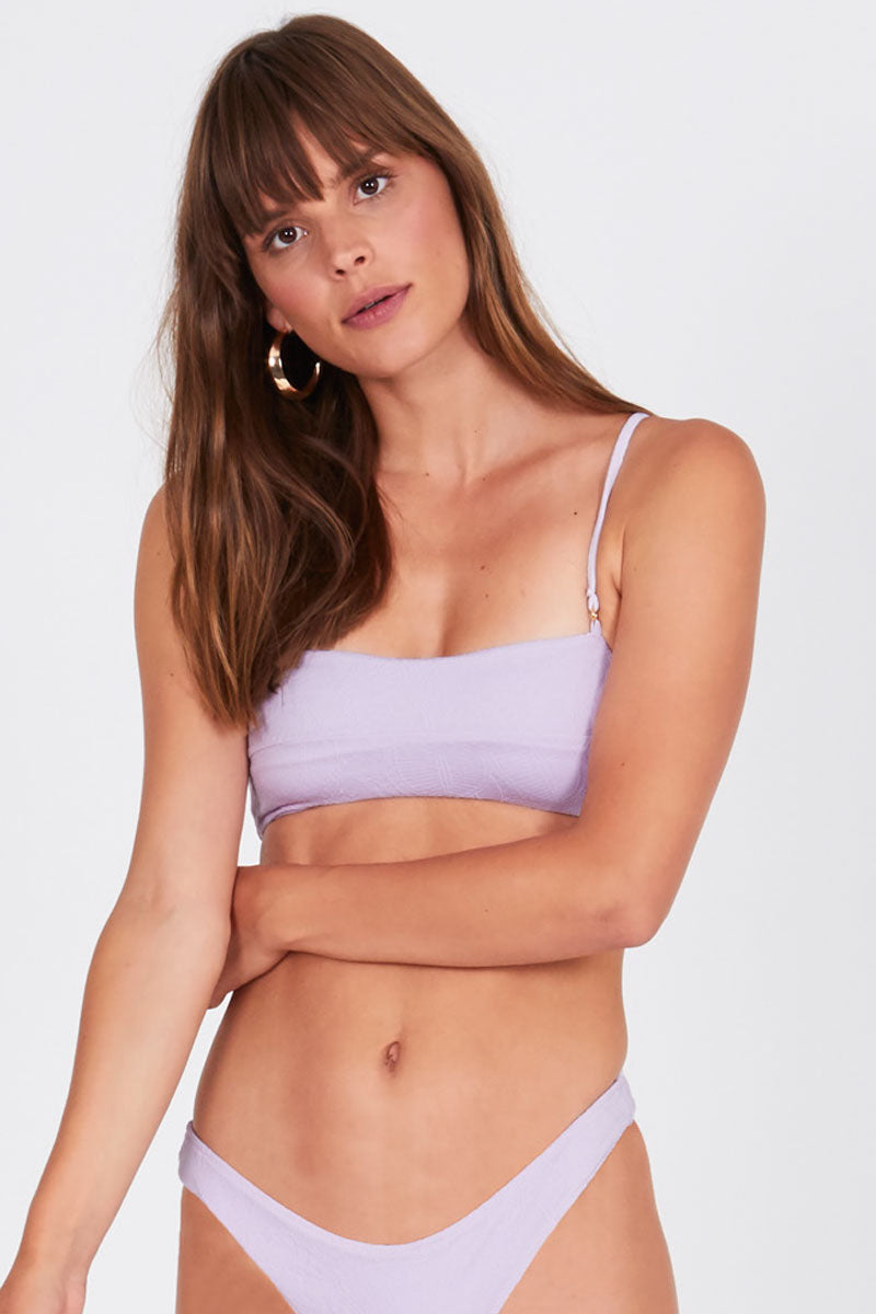 Allie Bralette Bikini Top - Lilac Purple