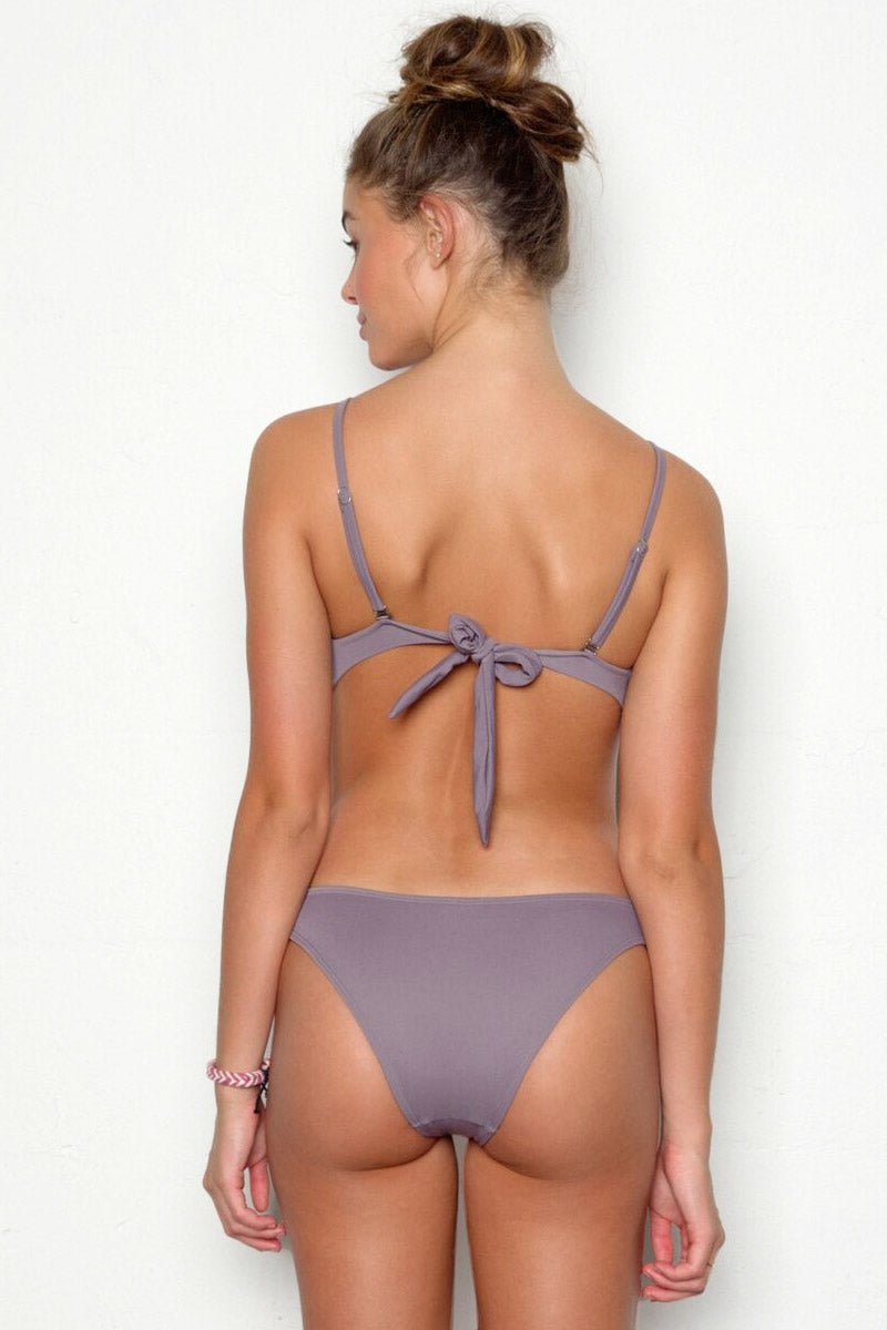 Sasha Strappy Bikini Bottom - Pebble Gray