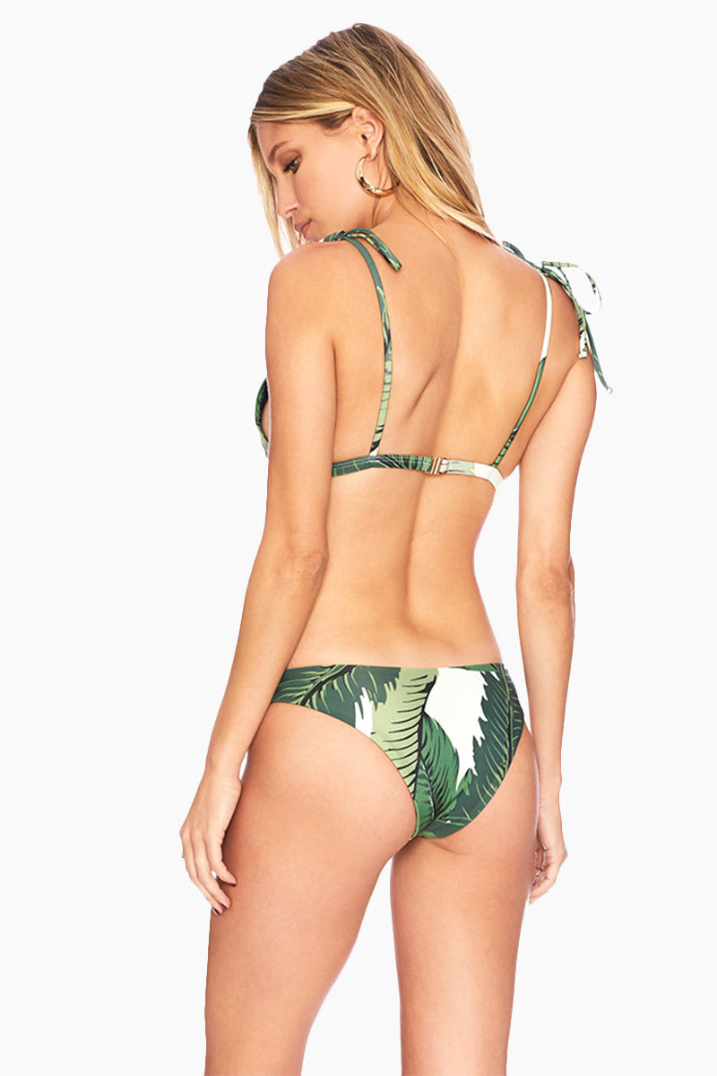 Sandy Seamless Cheeky Bikini Bottom - Tropical Palm Print