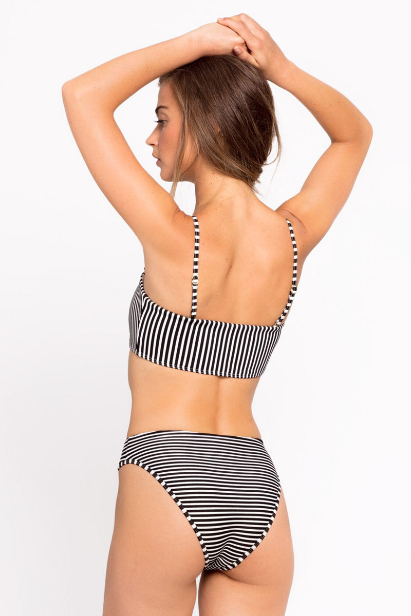 Back dc594745 3ff2 4df8 997e fe370fb1d292 Pierre High Cut Bikini Bottom 8211 Black 038 White Stripe Print