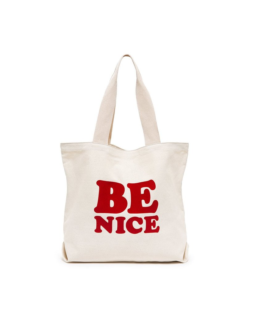 Be Nice Big Canvas Tote