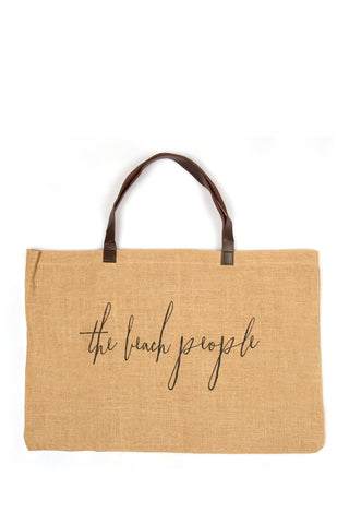 THE BEACH PEOPLE Jute Bag Tote | Jute|