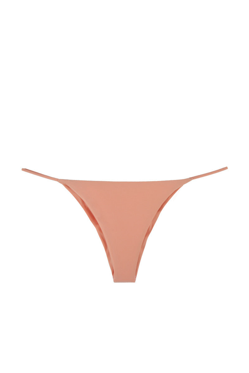 Minimal Stringy Brazilian Bikini Bottom - Peach