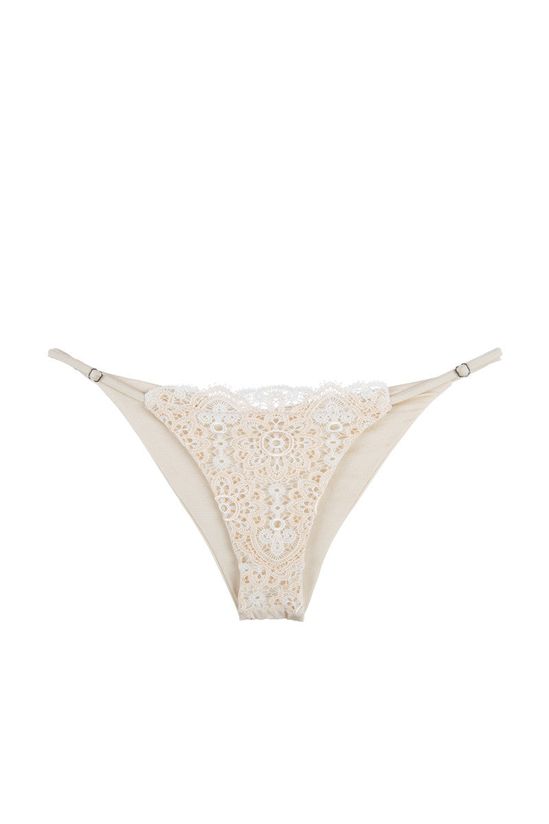 BLUE LIFE Seashell Skimpy Bikini Bottom Bikini Bottom   Pearl  Blue Life Seashell Skimpy Bikini Bottom Adjustable, barely-there spaghetti straps at the sides. Low rise cut. Gently gathered ruching at the back. Cheeky coverage.