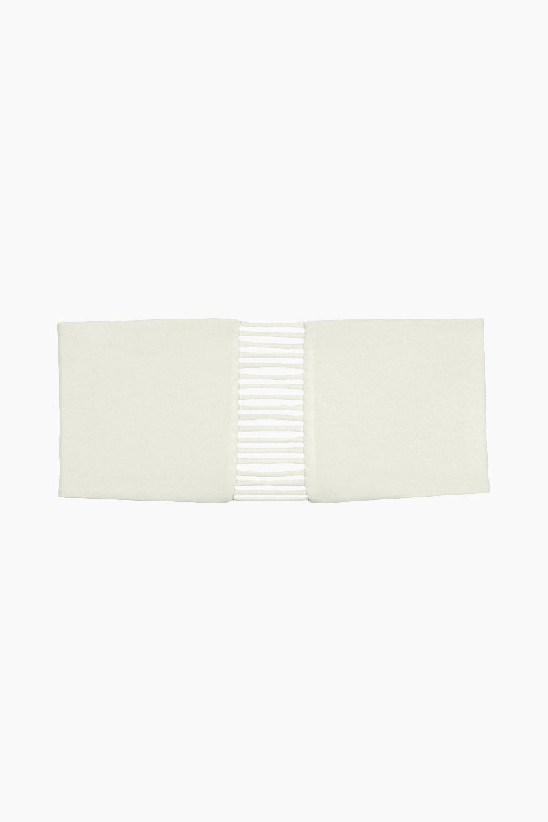 Sunset Skinny String Bandeau Bikini Top - Bone White