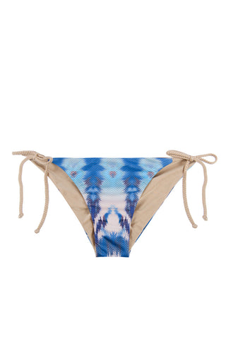 WATER GLAMOUR Jayne Braided Scrunch Bottom Bikini Bottom | Electric Blue/Nude|