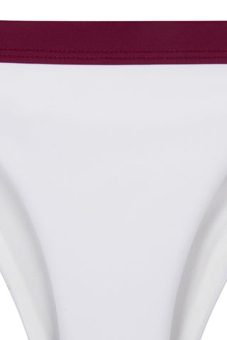 ZIGILANE Exclusive Bottom Bikini Bottom | White & Merlot|